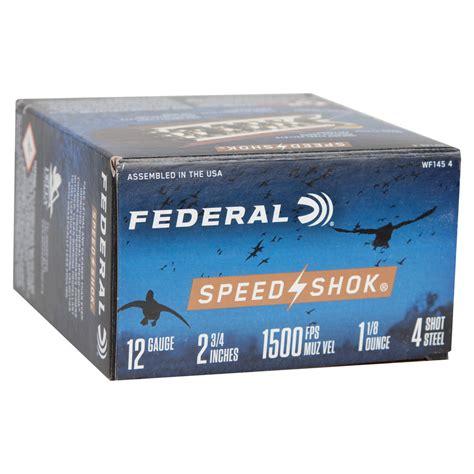 Federal Speed Shok Waterfowl 12 Ga 3 1 1 8 Oz 4 Steel