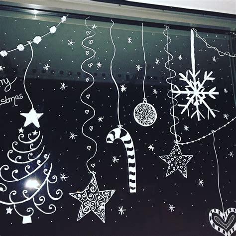 Fensterbilder Vorlagen Weihnachten Kreide