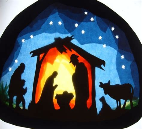 Fensterbilder Vorlagen Weihnachten Krippe