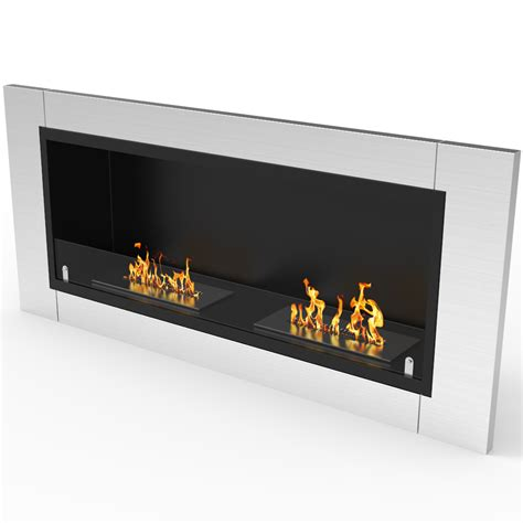 Fernande Ventless Recessed Wall Mounted Bio-Ethanol Fireplace