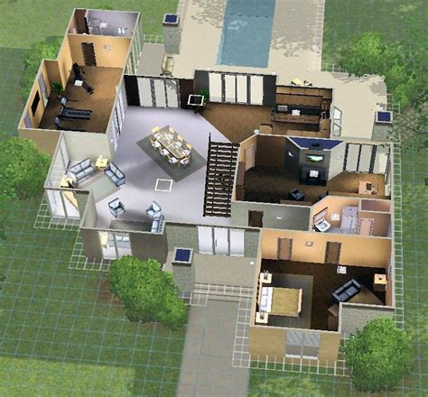 Files Images Plan Maison Moderne Sims 3 Awesome Maison De Luxe Plan ...