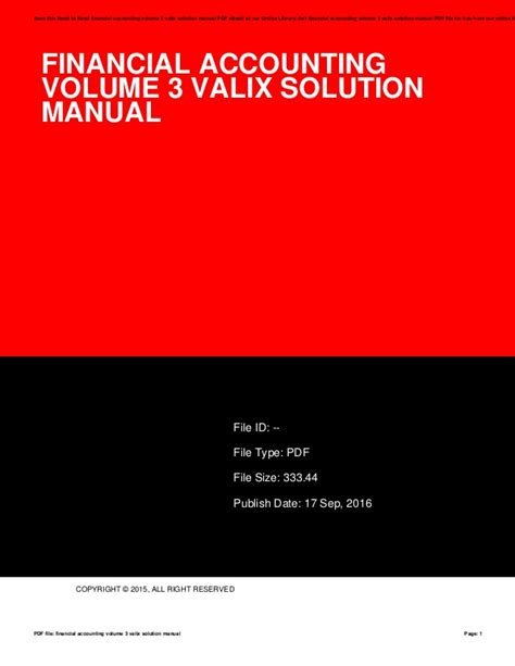 Financial Accounting Vol 3 Valix Solution Manual