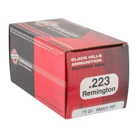 Find 223 Remington 75gr Heavy Match Hollow Point Ammo