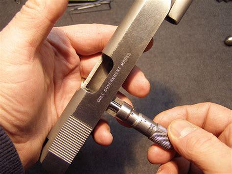 Finding Micrometer For 1911 Slide Rails