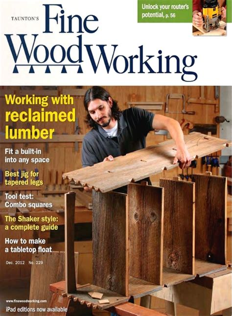Fine woodworking magazine index Image