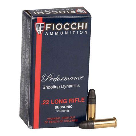 Fiocchi 22 Long Rifle Subsonic