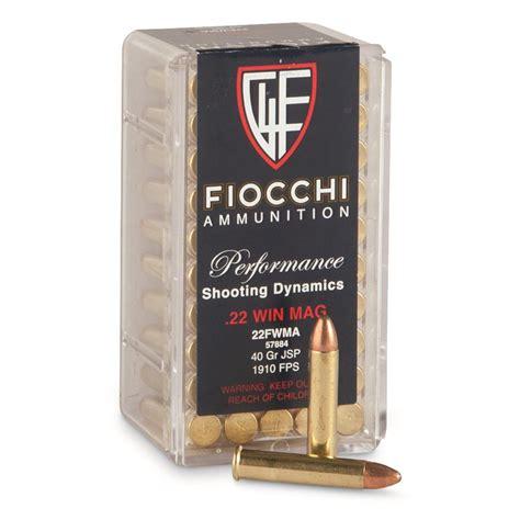 Fiocchi 22 Wmr Ammo In Stock