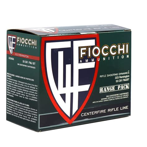 Fiocchi 223 Range Pack 200 Rounds