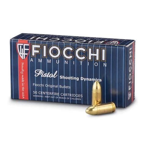 Fiocchi Handgun Ammo Per 50 9mm 115gr Fmj