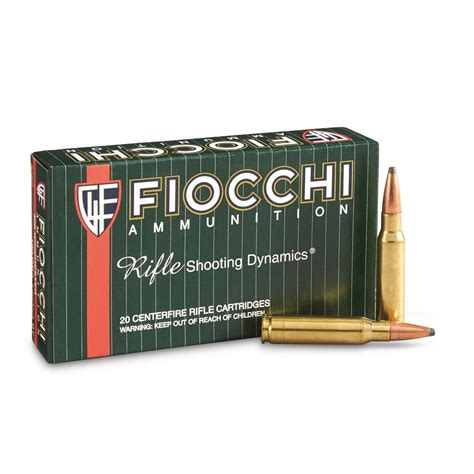 Fiocchi Rifle Shooting Dynamics Bullet Coefficient 308