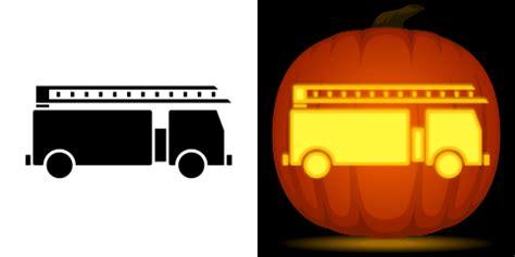 Fire truck pumpkin pattern Image