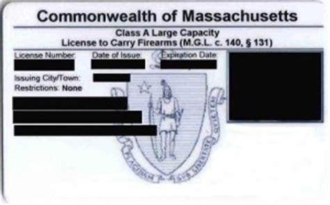 Firearms License Massachusetts