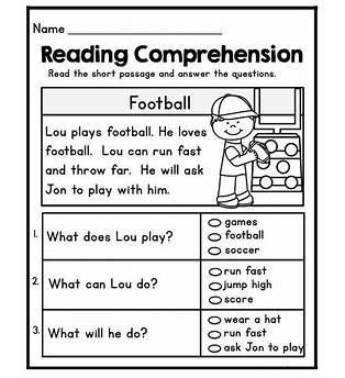 First Grade Reading Printables