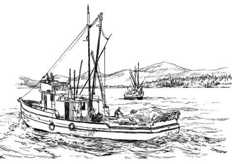 Fischerboot Malvorlage