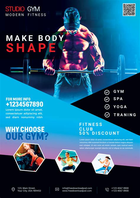 Fitness Flyer Template Free CV Templates Download Free CV Templates [optimizareseo.online]