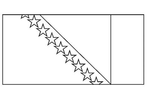 Flagge Bosnien Malvorlage