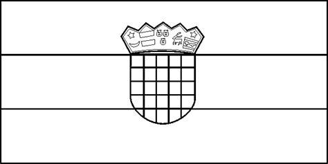 Flagge Kroatien Malvorlage