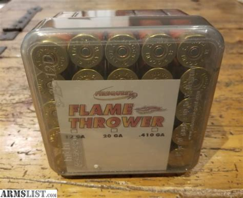 Flamethrower Shotgun Shells For Sale