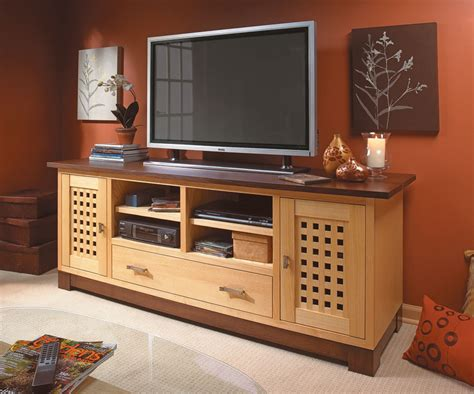 Flat TV Stand Plans Image