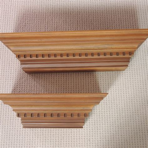 floating shelves with crown molding.aspx Image