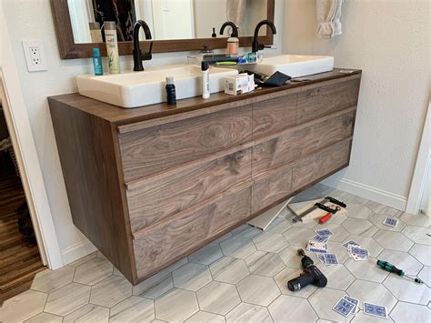 Floating vanity woodworking plans Image