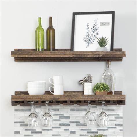 Floating wall wine shelf Image