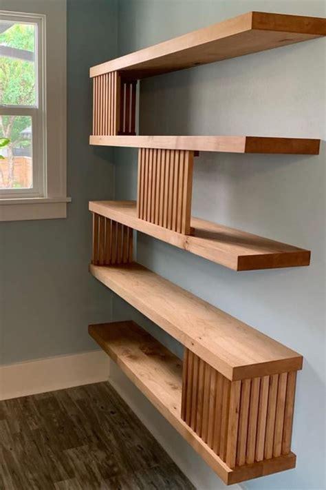 Floating wood shelves diy Image