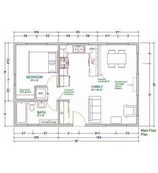 Floor Plans 20x30 Cabin
