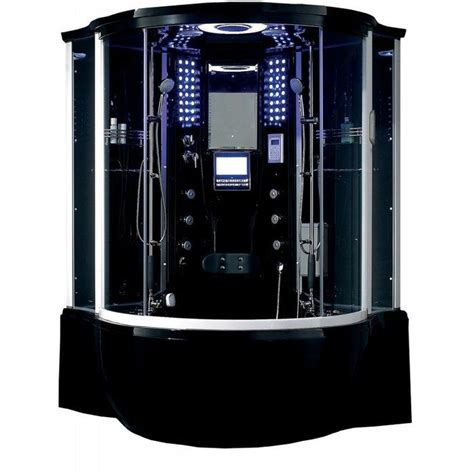 "Florence 57"" x 87"" Round Sliding Steam Shower with Base Included"
