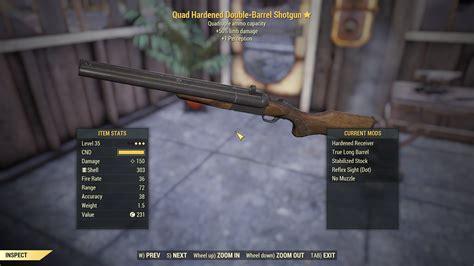 Fo76 Best Mods Double Barrel Shotgun