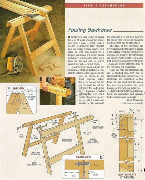 folding wooden sawhorse plans.aspx Image