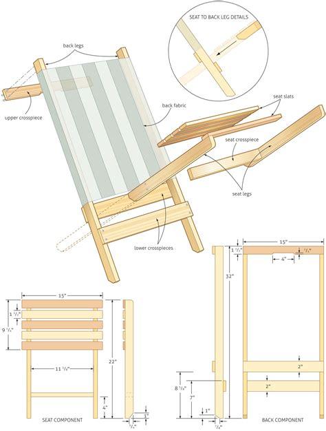 Folding beach chair plans Image