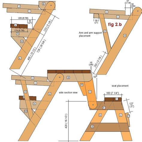 Folding picnic table bench plans Image