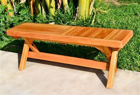 Folding wooden bench Image
