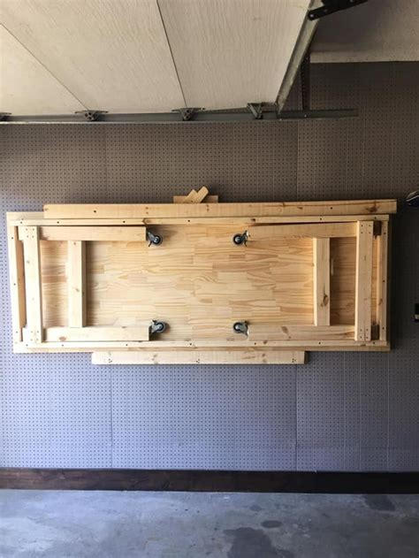 Folding Woodworking Workbench Plans Image