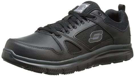 for Work Men's Flex Advantage Slip Resistant Oxford Sneaker