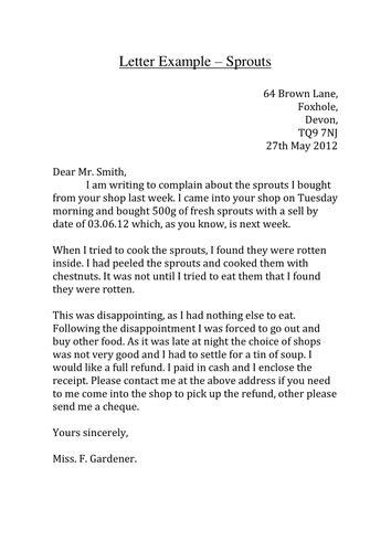letter template ks3  Formal Letter Template Ks14   International Education ...