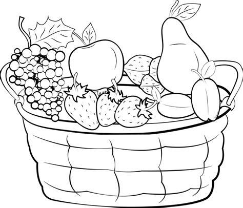 Früchtekorb Malvorlage