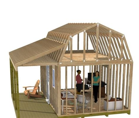 free 12x16 shed plans with loft.aspx Image