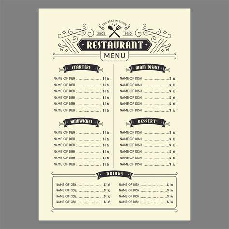Free Printable Restaurant Menus CV Templates Download Free CV Templates [optimizareseo.online]