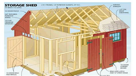 Free 10 x 16 shed plans Image
