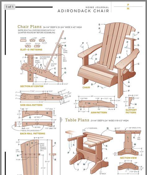 Free adirondack chair plans templates Image