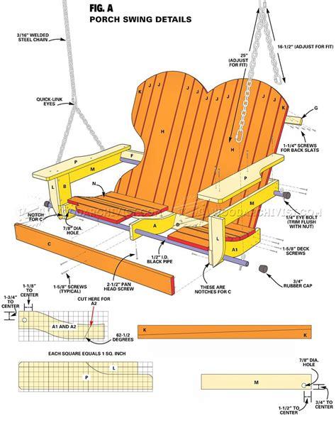 Free adirondack swing plans Image