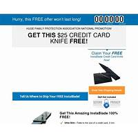 Cheap free credit card knife offer converts 13 3 percent