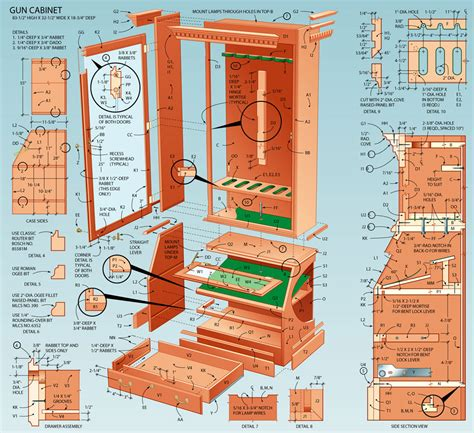 Free gun cabinet woodworking plans Image