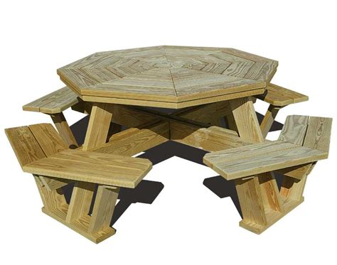 Free hexagon picnic table plans Image