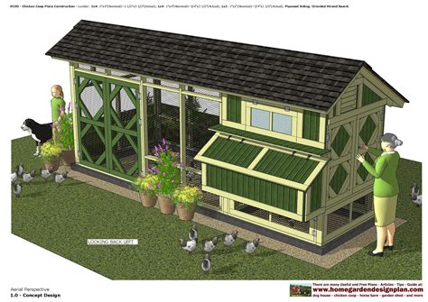 Free Plans for a Chicken Coop with Run And Pen