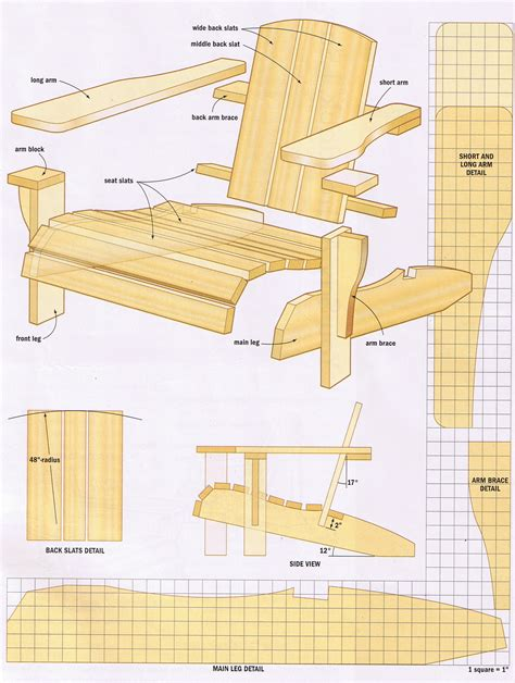 Free plans for building adirondack chairs Image