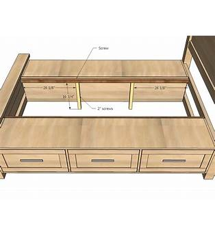 Free Plans For King Size Storage Bed