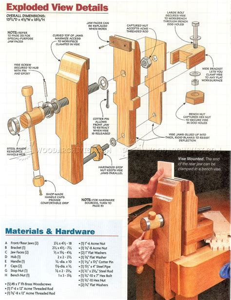 Free plans woodworking vise Image